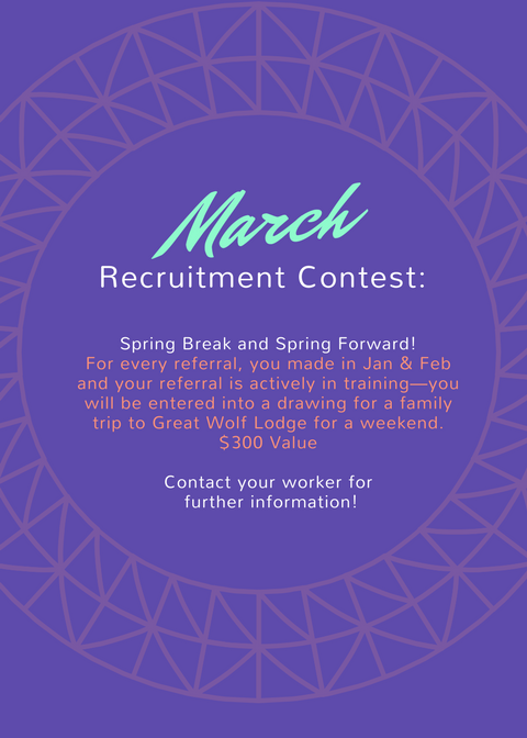 March - Recruitment Month